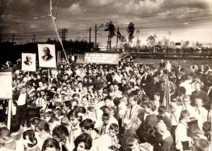 Открытие памятника В.И. Ленину у станции Заветы Ильича, 1964г