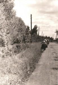 Дорога к станции по проспекту Ильича, 1965г
