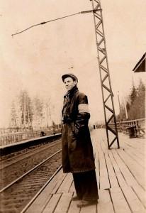 Дежурный по станции Заветы Ильича, 1956г